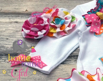 Lalaloopsy Inspired Matching Headband  to our Ruffle Bloomer Skirt Sets, Baby Ruffle Butts, Diaper Cover Newborn to Toddler Bloomers