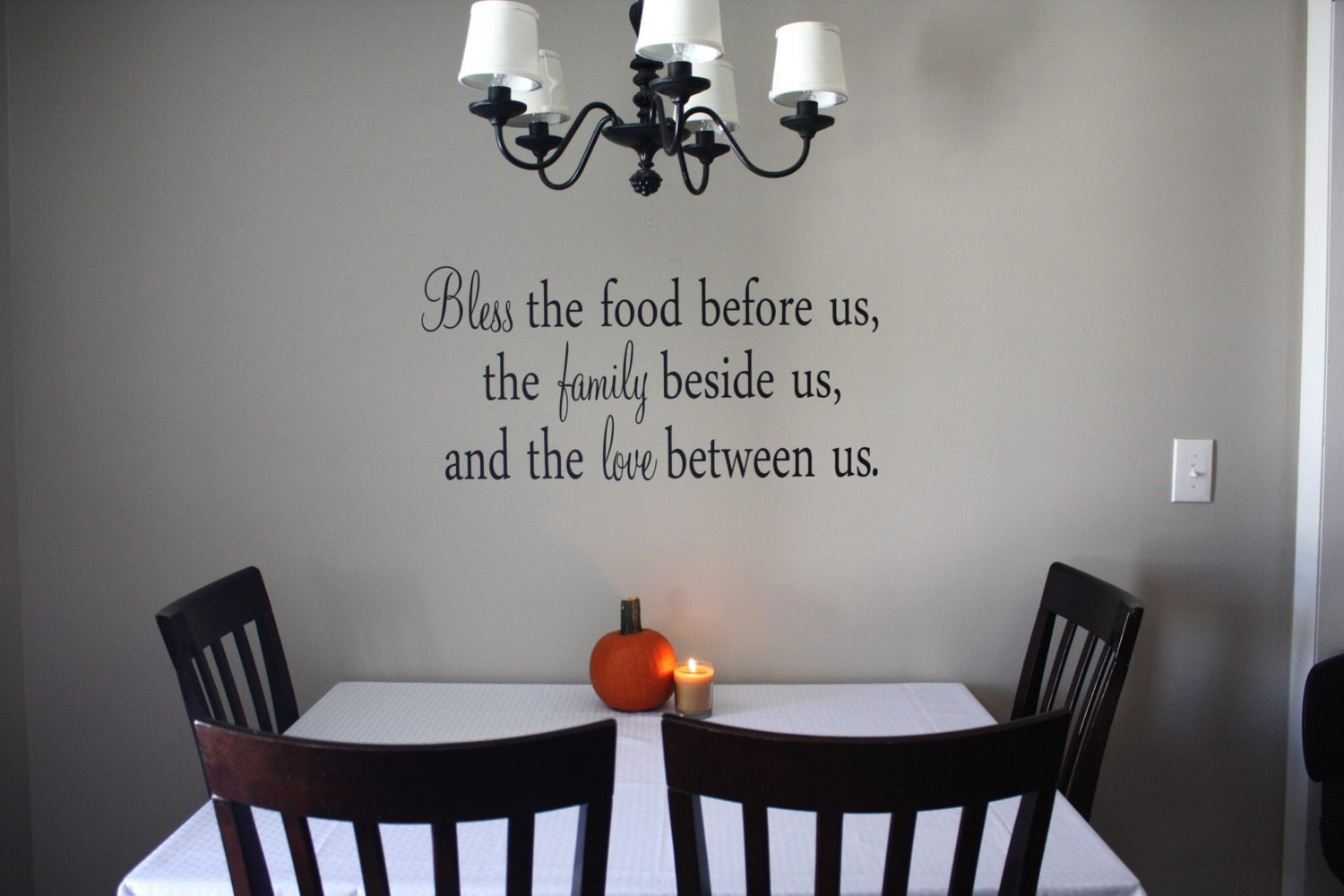 bless the food vinyl wall decal dining room by