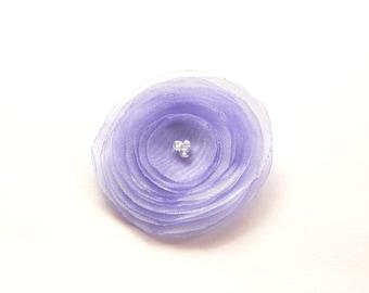 Pale Purple Organza Poppy Embellishment