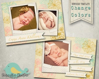 Vintage Baby Announcement Templates - Baby Girl Gardens