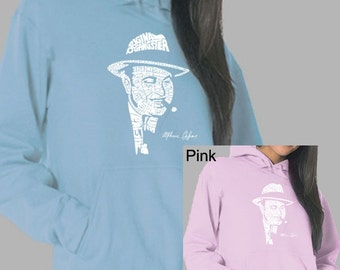 Women's Hooded Sweatshirt - Al Capone created out of the words Original Gangster