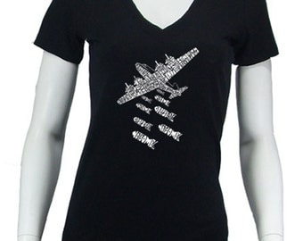 Women's V-neck T-shirt - Created using the phrase  Drop Beats Not Bombs