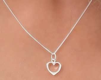 Hollow Heart in Sterling Silver