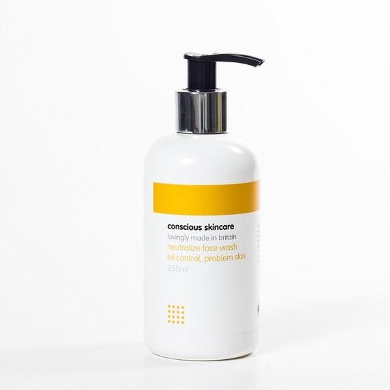 Organic Face Wash for Acne/ Problem Skin. Vegan. Organic Skincare. Chemical Free. 30ml SAMPLE size