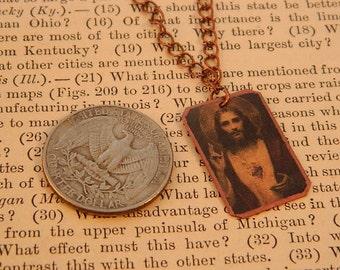 Jesus necklace Jesus Jewelry small necklace minimalist jewelry religious jewelry