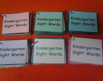 Kindergarten Sight Words Laminated // Dolch Words // Kindergarten Teacher Gift // Kindergarten Education - Learning - Homeschool // Kids
