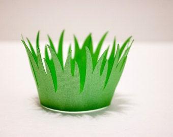 Long Grass Shaped Cupcake Wrapper (Set of 12)