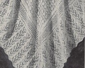 FAIRYTALE- Lacy shawl or baby blanket - 1940s design- Australian Knitting epattern