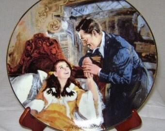 "Gone with the Wind Golden Anniversary ""Scarlett and Rhett's Honeymoon"" Commemorative Plate"
