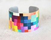 Color Block Bracelet - Color Trends - Trending Bracelets - Womens Fashion Trends - Chunky Cuff - Large Cuff Bracelet by Zoe Madison (273)