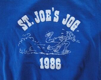 Vintage St. Joe's Jog 1986 Tshirt