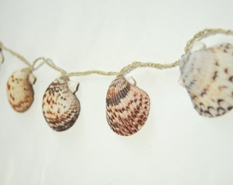 Beach Wedding Decor - Seashell Garland - Beach Themed Wedding Decorations - 7ft