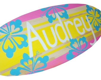 Personalized Beach Signs, Surfboard Art, Decorative Surfboard Wall Decor, Surf board  Wall Art