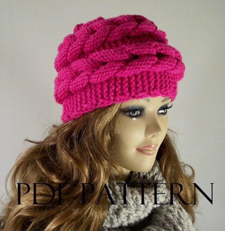 Knitting Hat Patterns For Women : Knitting hat pattern aralenna beret knit