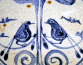 Hand-Painted Bird Tile Trivet