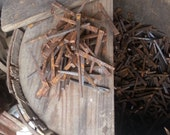 One Pound of 2.25 Inch Antique Square Cut Nails by Tremont Vintage Hardware