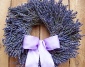 Spring Wreath-Spring Home Decor-Front Door Wreath-Summer Wreath-Wedding Wreath-RUSTIC DRIED LAVENDER Floral Door Wreath-Year Round Wreath