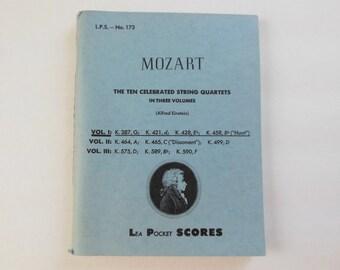 Mozart Lea Pocket Scores Ten Celebrated String Quartets