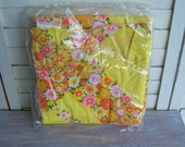 Retro flowered pillow sham- Free Shipping