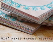 """SALE 4x6"""" Mixed Papers Journal with 40 pages"""