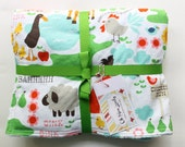 SALE - Michael Miller Farms Life minky blanket -  ready to ship