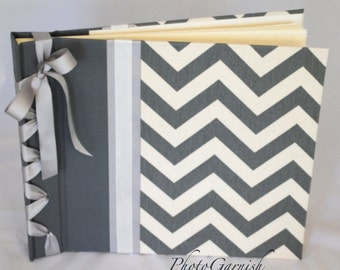 Grey and Off White Chevron Photo Album