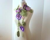 Floral scarf ,fashion,unique,no.13