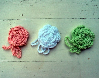 Crochet Pin Flower Accessory - Rose Brooch Women - Crochet Brooch Rose