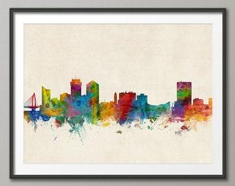 Wichita Skyline, Wichita Kansas Cityscape Art Print (1011)
