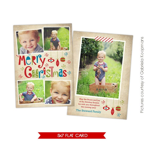 INSTANT DOWNLOAD - Christmas Card Photoshop template - Funny Moments- E522