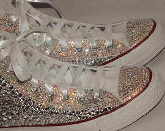 CUSTOM Bling Rhinestone Totally Covered Converse Chuck Talor High Top Sneakers