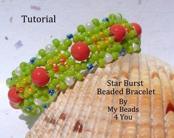 PDF Beading Tutorial, Beadwoven Bracelet Tutorial, Seed Bead Bracelet Pattern, Beading Instructions, PDF,Beading Pattern, Beadwork Tutorial
