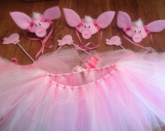 Little Pink Pigs Costume Set: includes 1 pig