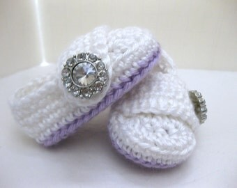 Spring, Baby, Infant Girl Shoes, Purple, White, Newborn, Baby Girl, Newborn Photo Prop, Newborn Photos