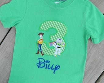 Boys or Girls Toy Story Birthday Shirt