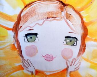 Sunflower Sooziedoozie Pillow