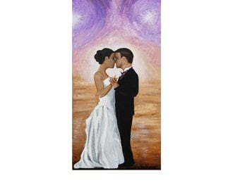 "Canvas ART PRINT- ""The Dance""- romantic, wedding portrait"