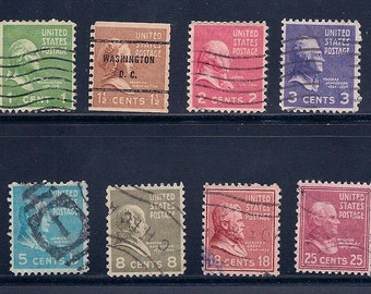 USA 1938 Presidential Issue Vintage Stamps
