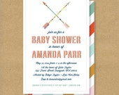 ARROWS Baby Shower Invitation - Printable - Colorful Arrows & Stripes - Gender Neutral Invite