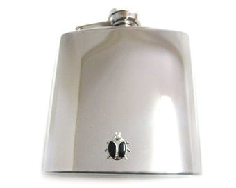 Black Bug 6 oz. Stainless Steel Flask