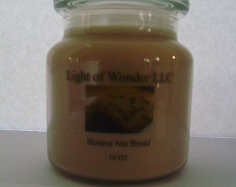 Banana Nut Bread 16 OZ Keepsake Candle
