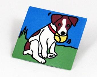 Jack Russell Terrier/Jack Russell Terrier Puppy/Dog/Puppy Metal Magnet