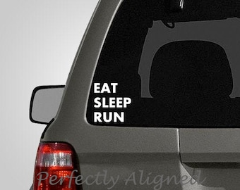 Eat Sleep Run Decal - Running is life decal - Vinyl car decal