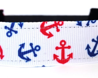 Nautical Non Slip Headband - Anchors - Red White and Blue | No slip | Running Headband | Fitness Headband | FREE SHIPPING Offer