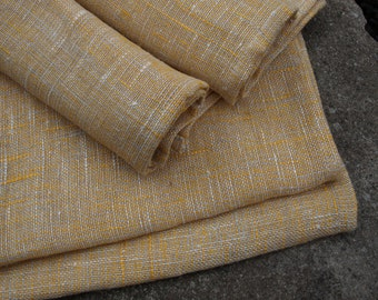 """Linen Napkins Set of 4 17 1/2""""x17 1/2"""" Natural Grey and Yellow, Pale Mustard"""