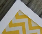 Decorative cork board, Magnet board, yellow chevron pin board, framed magnetic bulletin board, message board