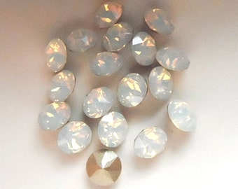 18 White Opal 34ss Swarovski Xirius Round Rhinestones-Loose Rhinestones-Loose Crystals-Wholesale Rhinestones