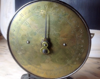 Vintage Salter Iron and Brass Postal Scale