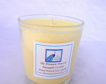 pineapple coconut scented soy candle 10 oz tumbler yellow