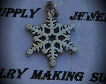 Snowflake Sterling Silver Plated Charm